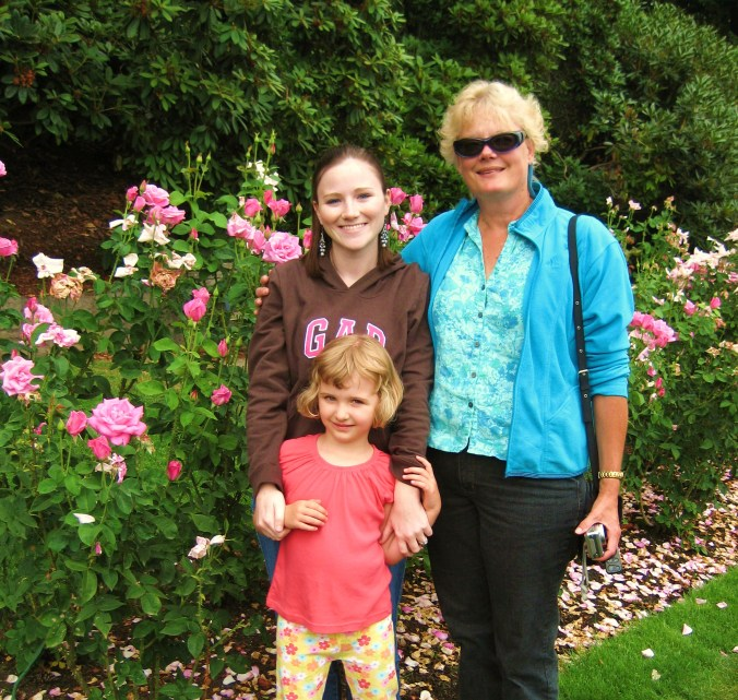 Aunt Kathy, Lindsey, and Me