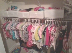 She has plenty of clothes!