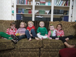 Christmas with all of the cousins.  They're so cute!!