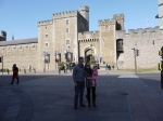 In front of Cardiff Castle